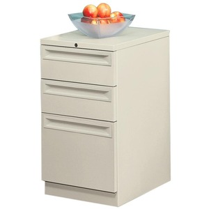 "HON Flagship 38000 Series ""K"" Pull File Cabinet - 15"" x 20"" x 28"" - 2 x Box, 1 x File Drawer(s) - Security Lock, Ball-bearing Suspension - Putty"