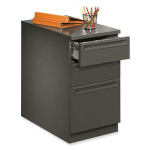 "HON Flagship 38000 Series ""K"" Pull File Cabinet - 15"" x 20"" x 28"" - 2 x Box, 1 x File Drawer(s) - Security Lock, Ball-bearing Suspension - Charcoal"