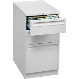 HON Flagship 38000 Series &quot;K&quot; Pull File Cabinet - 15&quot; x 29&quot; x 28&quot; - 2 x Box, 1 x File Drawer(s) - Security Lock, Ball-bearing Suspension - Light Gray