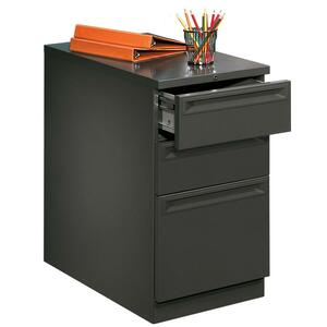 "HON Flagship 38000 Series ""K"" Pull File Cabinet - 15"" x 23"" x 28"" - 2 x Box, 1 x File Drawer(s) - Security Lock, Ball-bearing Suspension - Charcoal"