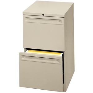 "HON Flagship 38000 Series ""K"" Pull File Cabinet - 15"" x 23"" x 28"" - 2 Drawer(s) - Security Lock, Ball-bearing Suspension - Putty"