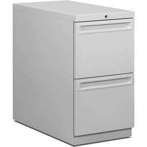 HON Flagship 38000 Series &quot;K&quot; Pull File Cabinet - 15&quot; x 29&quot; x 28&quot; - Steel - 2 Drawer(s) - Security Lock, Ball-bearing Suspension - Light Gray