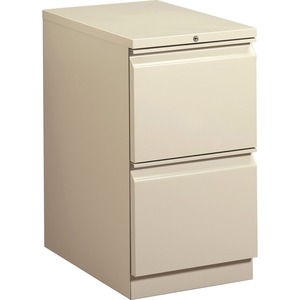"HON Brigade Standard Height Pedestal - 15"" x 23"" x 28"" - 2 x File Drawer(s) - Security Lock - Putty"