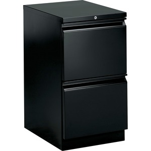 "HON Brigade Standard Height Pedestal - 15"" x 23"" x 28"" - 2 x File Drawer(s) - Security Lock - Black"