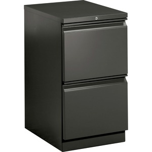 "HON Brigade Standard Height Pedestal - 15"" x 23"" x 28"" - 2 x File Drawer(s) - Security Lock - Charcoal"