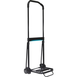 Kantek Ultra-Lite Folding Cart - Telescopic Handle - 110 lb Capacity - Steel, Aluminum - Black