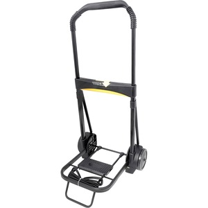 Kantek Ultra-Lite Folding Cart - Telescopic Handle - 200 lb Capacity - Steel, Aluminum - Black