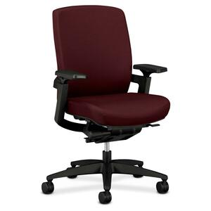 "HON F3 Ergonomic Mid-Back Work Chair - 27"" x 34"" x 42"" - Fabric Wine Seat"