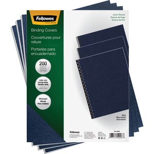 Fellowes Linen Presentation Covers - Letter, Navy, 200 pack - TAA Compliant FEL52098