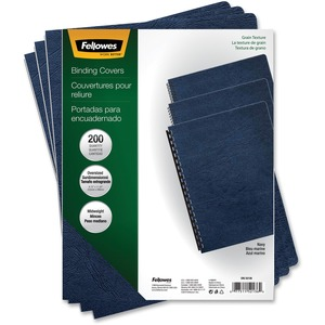 Fellowes Classic Grain Presentation Covers - Oversize, Navy, 200 pk - TAA Compliant FEL52136