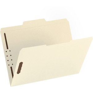 "Sparco Fastener Folder - Letter - 8.5"" x 11"" - 1/3 Tab Cut on Top - 2 Fastener - 50 / Box - Manila"