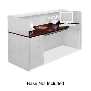 Mayline Corsica Veneer Series Reception Desk MLNCRDT72MAH
