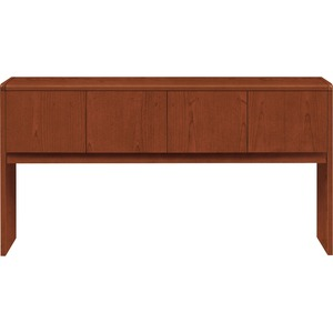"HON 10700 Series Stack-On Storage - 14.62"" Width x 75"" Depth x 37"" Height - Waterfall Edge - Particleboard - Henna Cherry Top"