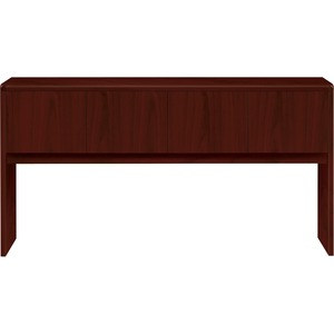 "HON 10700 Series Stack-On Storage - 76"" Width x 14.62"" Depth x 37"" Height - Waterfall Edge - Particleboard - Mahogany Top"
