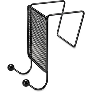 Fellowes Mesh Partition Additions Double Coat Hook - 2 Hook - Metal - Black