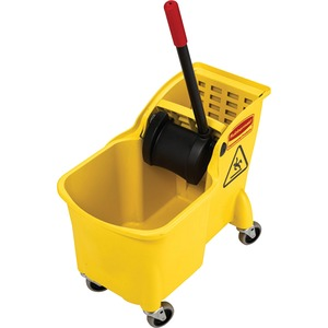 "Rubbermaid Mop Bucket Combination - 31 quart - 32.25"" x 22.62"" x 13.25"" - Yellow"