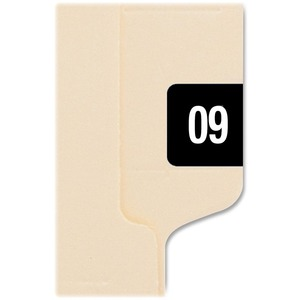 Smead Self-adhesive Color-coded Year Label - 1&quot; Width x 0.5&quot; Length - 25/Sheet - Removable - 250 / Pack - Black