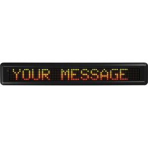 "U.S. Stamp & Sign Moving Message LED Sign - ""Customizable - 29"" x 4.5"" - Black"