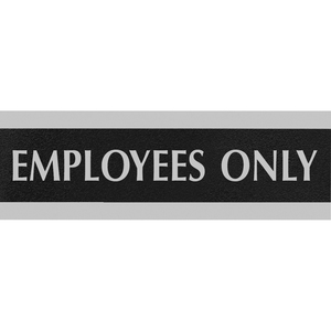 "U.S. Stamp & Sign Century Employees Only Sign - ""Employees Only"" Preprinted - 9"" x 3"" - Black"