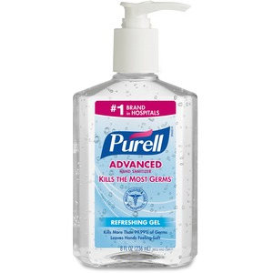 Gojo PURELL Instant Hand Sanitizer - 8fl oz - Pump Bottle Dispenser - Moisturizing, Dye-free, Non-toxic, Hypoallergenic - Clear
