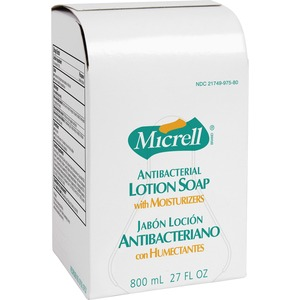 MICRELL Antibacterial Lotion Dispenser Refill - 800mL - Anti-bacterial, Antimicrobial - 12 / Carton