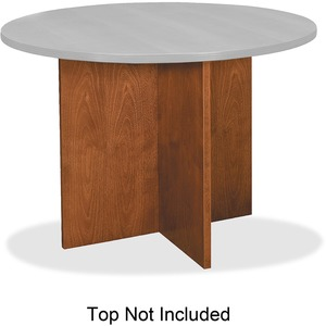 Basyx by HON Veneer Round Conference Table Top with X-Base BSXBWX01HH