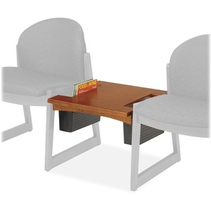 "Safco Urbane Straight Center Connecting Table - Square - 21"" x 21"" x 17"" x 1"" - Hardwood - Cherry"