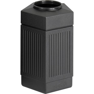 Safco Indoor/Outdoor Pentagon Shape Receptacle SAF9485BL