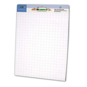 Bright White Grid Easel Pad