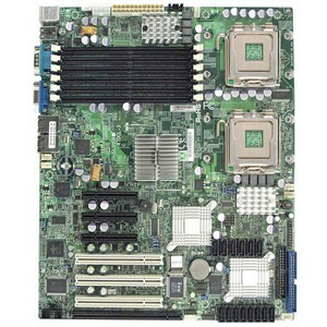 Supermicro X7DCL-3 Server Motherboard - Intel Chipset - Retail Pack - ATX - 32 GB DDR2 SDRAM Maximum RAM - Floppy Controller, Serial Attached SCSI (SAS), Serial ATA/300, Ultra ATA/100 (ATA-6) - On-board Video Chipset