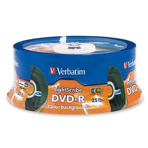 Verbatim 96433 DVD Recordable Media - DVD-R - 16x - 4.70 GB - 25 Pack Spindle VER96433