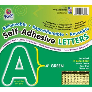 Pacon Self-Adhesive Removable Letters PAC51624