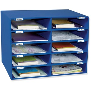 Pacon Classroom Keepers Classroom Mailbox - 10 Compartment(s) - Blue