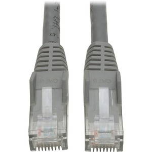 1FT CAT6 GRAY GIGABIT SNAGLESS RJ45 PATCH CABLE M/M