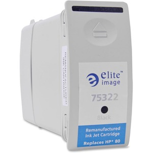 Elite Image Black Ink Cartridge - Inkjet - 4400 Page - Black