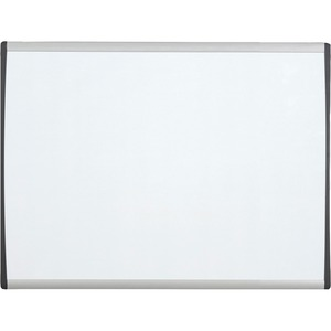 Acco Brands Corporation Quartet® Arc Cubicle Whiteboard - 14 (1.2 Ft) Width X 11 (0.9 Ft) Height - White Painted Steel Surface - Silver Aluminum Frame - Horizontal - 1 / Each