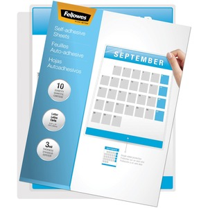 "Fellowes Self-Adhesive Laminating Sheet - 9"" Width x 11.5"" Length - Self-adhesive - 1Each - Clear"