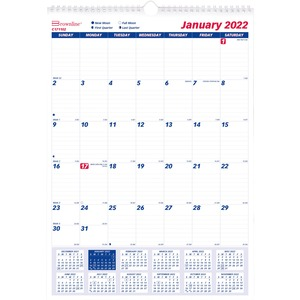 Brownline Monthly Wall Calendar REDC171102