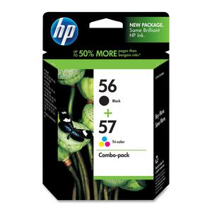 HP 56 Black/57 Tri-color 2-pack Original Ink Cartridges HEWC9321FN