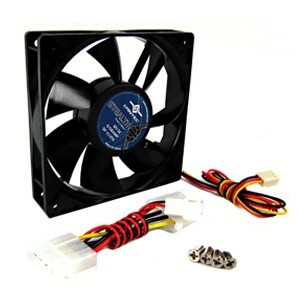 Vantec Stealth Case Fan 80MM 2050RPM 20DBA 27CFM 3/4PIN Dual Ball Bearing
