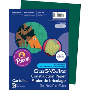 SunWorks Groundwood Construction Paper PAC7803
