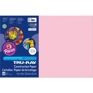 "Tru-Ray Construction Paper - 18"" x 12"" - Pink"