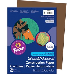 SunWorks Groundwood Construction Paper PAC6803