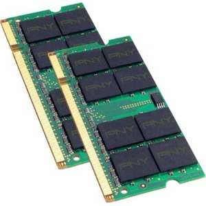 PNY Optima 2GB DDR2 SDRAM Memory Module - 2GB (2 x 1GB) - 667MHz DDR2-667/PC2-5300 - DDR2 SDRAM - 200-pin SoDIMM