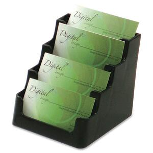 Deflect-o 4 Compartment Business Card Holder DEF70404