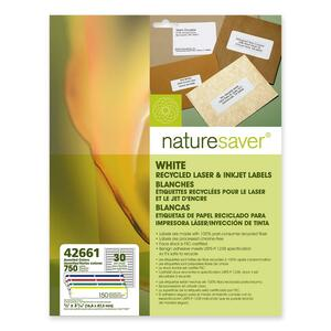 "Nature Saver File Folder Label - 0.66"" Width x 3.43"" Length - 750 / Pack - Assorted"