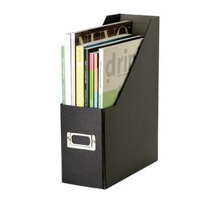 IdeaStream Snap-N-Store Regular Magazine File - Black - Fiberboard, Metal Holder - 1 Pack