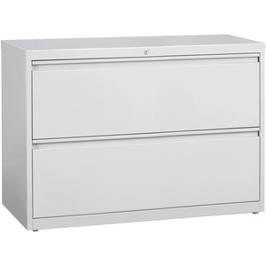 "Lorell 60439 Lateral File - 42"" x 18.62"" x 28"" - 2 Drawer(s) - Legal, Letter, A4 - Rustproof, Leveling Glide, Ball-bearing Suspension, Interlocking - Gray"