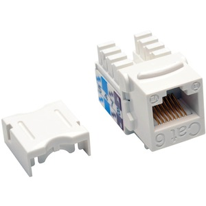 CAT6/CAT5E RJ45 WHITE 110 PUNCH DOWN KEYSTONE JACK