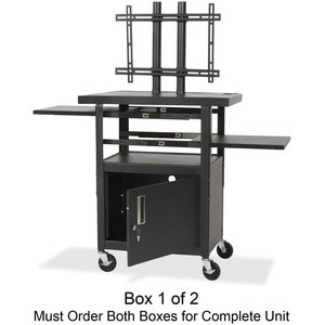 Balt Height Adjustable Flat Panel TV Cart - Steel - Black